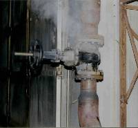 "Steam wafts out of a fractured 6"" Class 250 cast iron valve after killing a worker."
